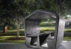 Urban gazebo by Australian designer Alexander Lotershtayna - stylish gift to residents of megacities