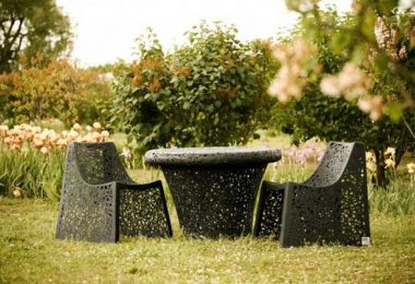 Collection of exterior: Basalt furniture from Raymond Cīrulis Company Maffam Freeform