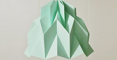 Collection of lamps in the style of origami