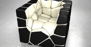 Unique cubic chair