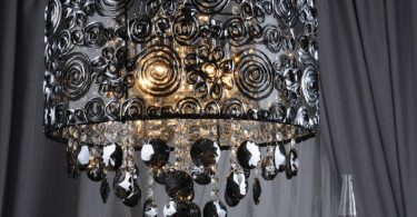 Original lamps with lampshades forged