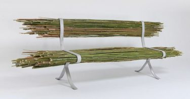Simply bundle of bamboo: the original bench by Israeli designer Gala Ben Arava