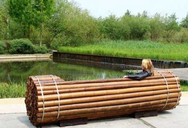 Benches for parks and gardens of unusual design and shape
