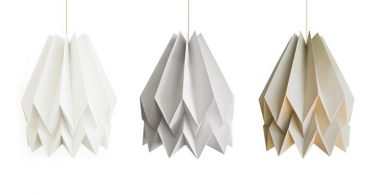 Lamp Origami Collection Orikomi lampshades from Blaanc studio
