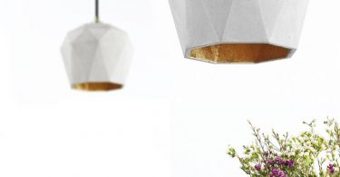 Lights in the modern style: a unique lamp made of concrete