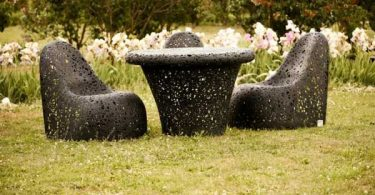 Unique garden furniture from basalt fiber innovation