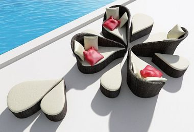 Inspired by flower petals: Fiore modular garden furniture from B-alance studio