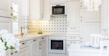 100 beste ideer: moderne møbler i det indre av kjøkkenet på bildet