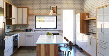 Kitchen with island: 100 best design ideas on photo