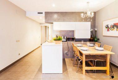 Kjøkken med en halvøy: 50 ideer om en vinkel layout på et bilde
