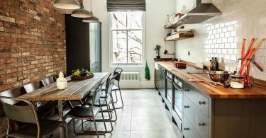 Kitchen in loft style: interior and kitchen design in industrial style