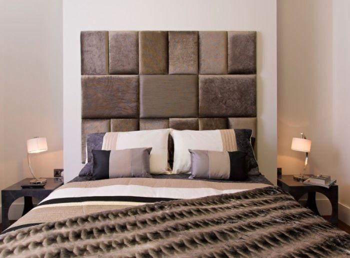 The headboard in leather and textiles will be a highlight of the interior bedrooms.