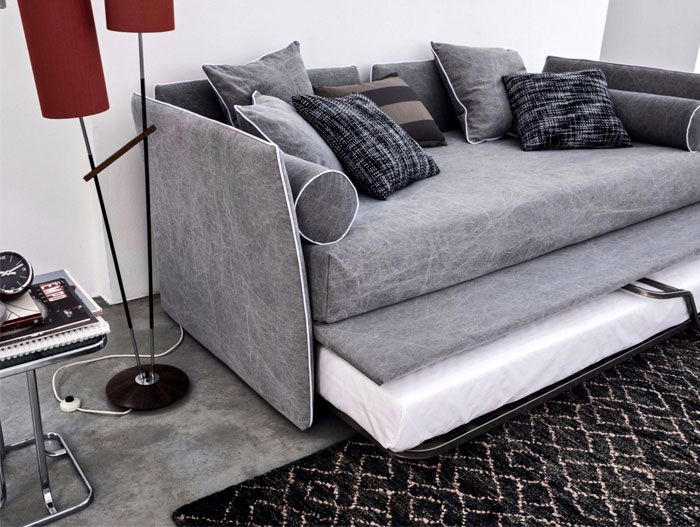 Sofa bed - a universal solution for a small home.