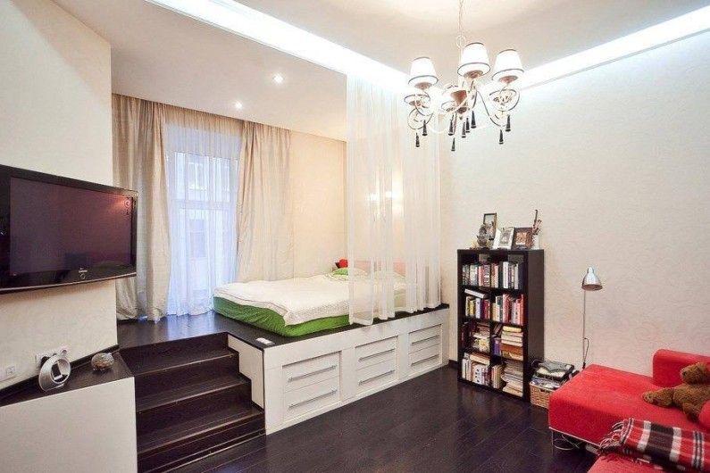 Дизайн проект комнаты в однокомнатной квартире