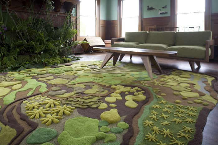 The large carpet is ideal for the living room.