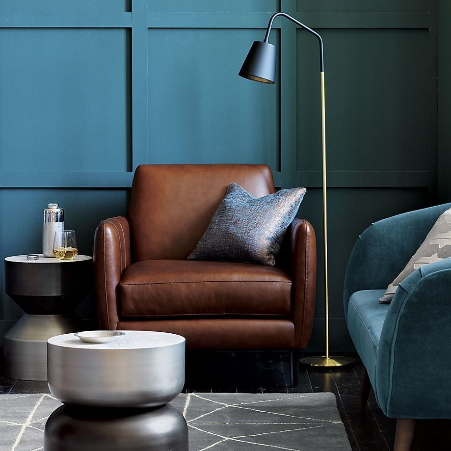 Black floor lamp from CB2