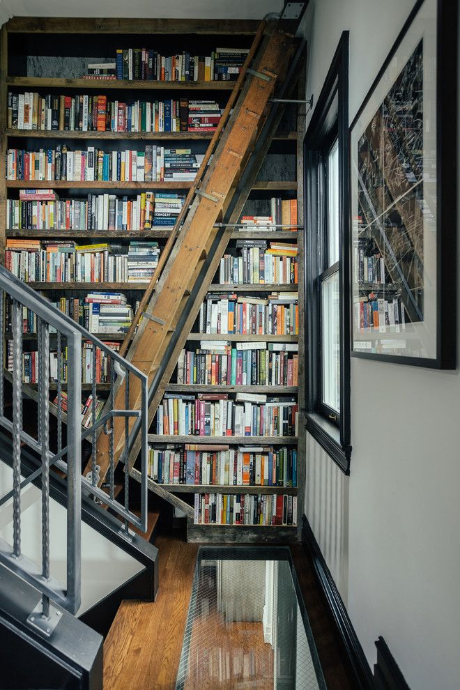 Staircase in the interior of the home library