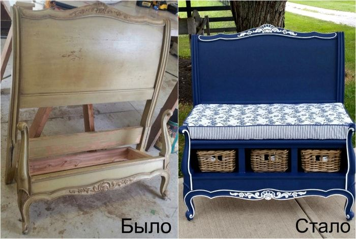 Transformation of the functional head of the bed bench.