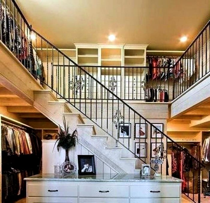 The two-storey walk-in closet.
