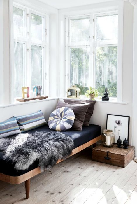 A place to relax in a Scandinavian style.