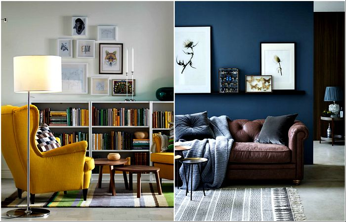 Inspiring living rooms, decorated according to the latest fashion trends.