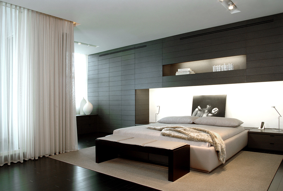 How to make a man's bedroom in the style of hi-tech