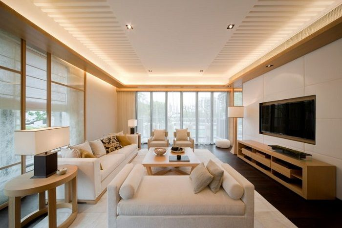 Chic interior guest rooms created due to indirect lighting.