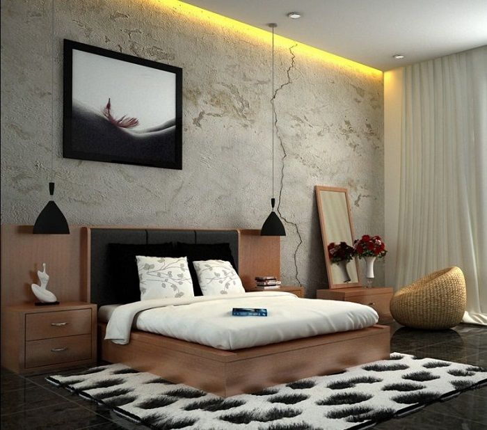 Cool the solution to transform the interior of a bedroom concealed lighting.
