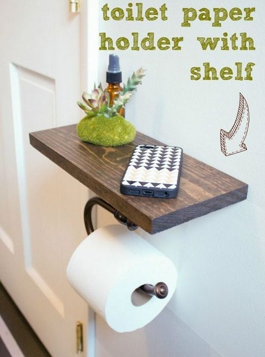 A practical option of the holder, which optimizes space in the bathroom.