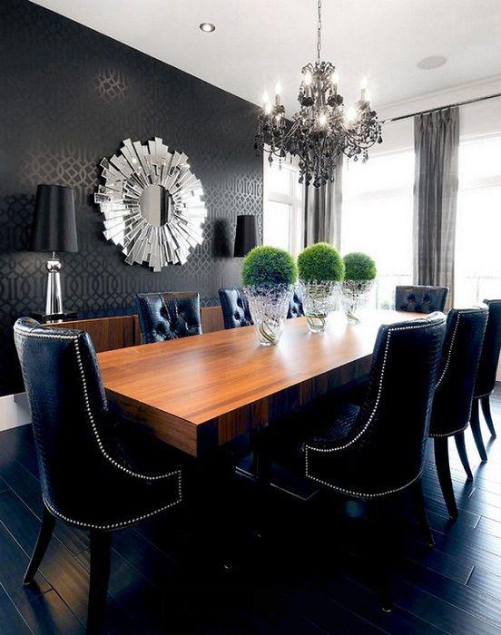 28 нюанса на сивото: най-елегантните интериори, изградени върху контраста на черни стени
