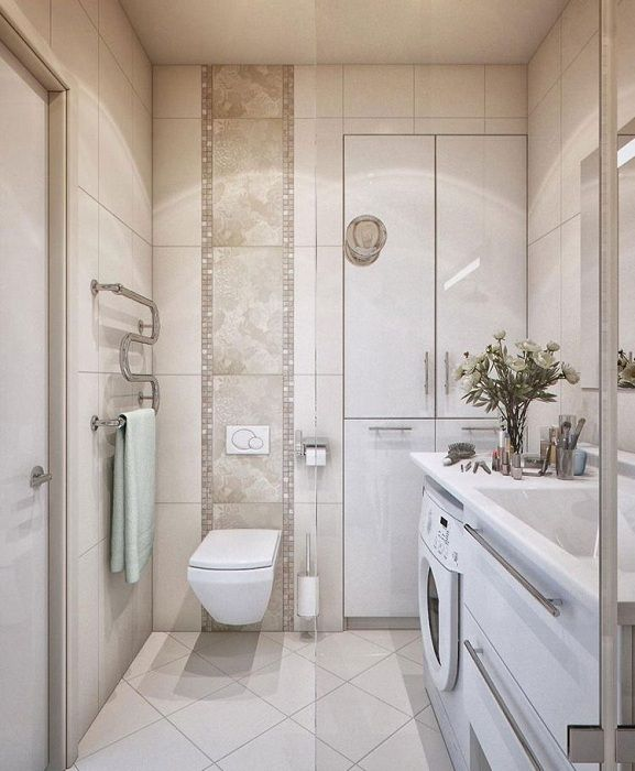 An excellent option properly equip the bathroom with modern design solutions.