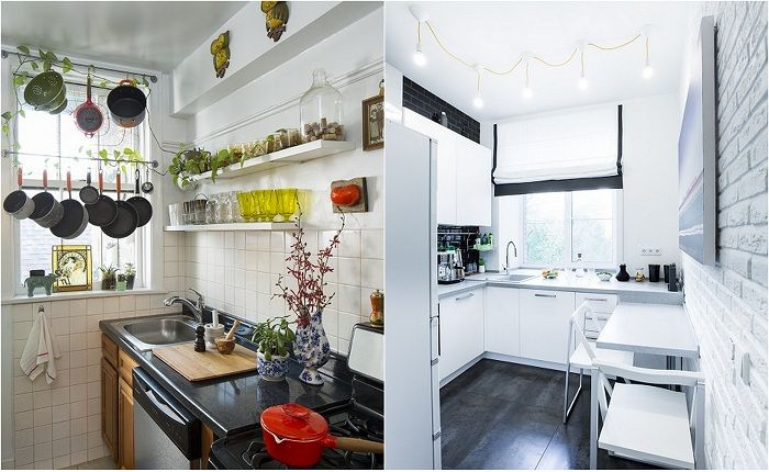 Examples of registration of small kitchens.