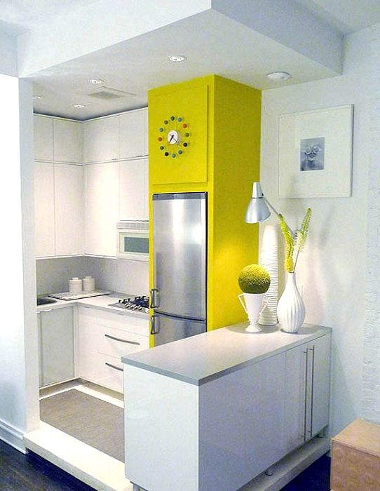 Bright kitchen with bright accent that will give only the most positive moments.