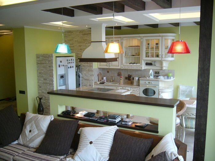 Pretty option to transform the interior of the kitchen by creating a comfortable environment in shades of olive, that enjoy it.