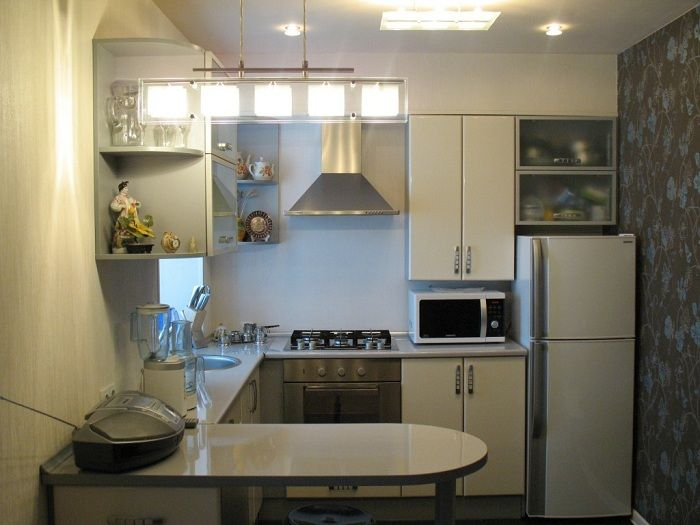 Making dishes with a small area in shades of gray, which looks stylish and modern.