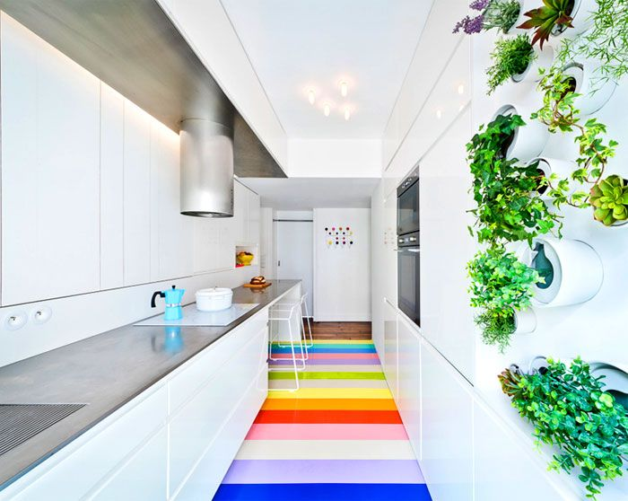 White kitchen SABO studio.
