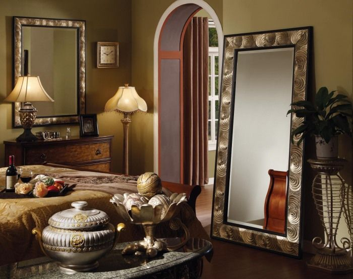 Mirror is also visually increase the bedroom.