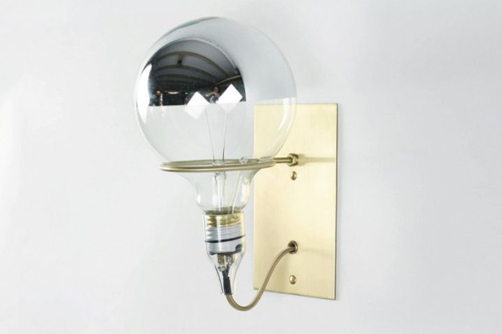 Wall lamp in interior