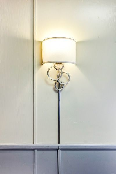 Exquisite wall lamp in the interior