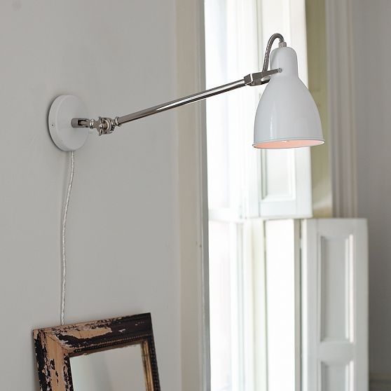 Beautiful wall lamp in the interior