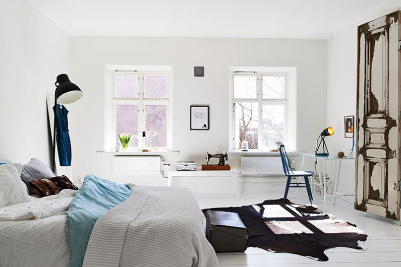 Scandinavian style in the bedroom