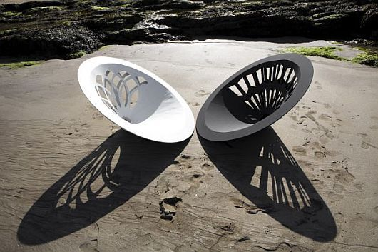 Designer chair on the sand