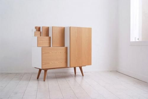 Creative modular cabinet against the wall