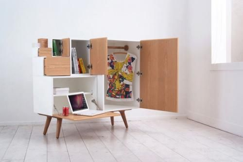 Beautiful modular cabinet in an open state