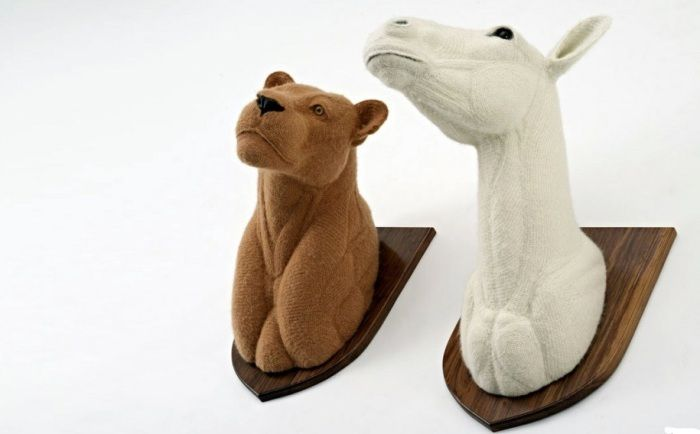 Artificial animal heads will be particularly relevant in the Scandinavian interior.