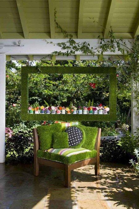 Декоративна мъх в интериора на вашата градина веранда