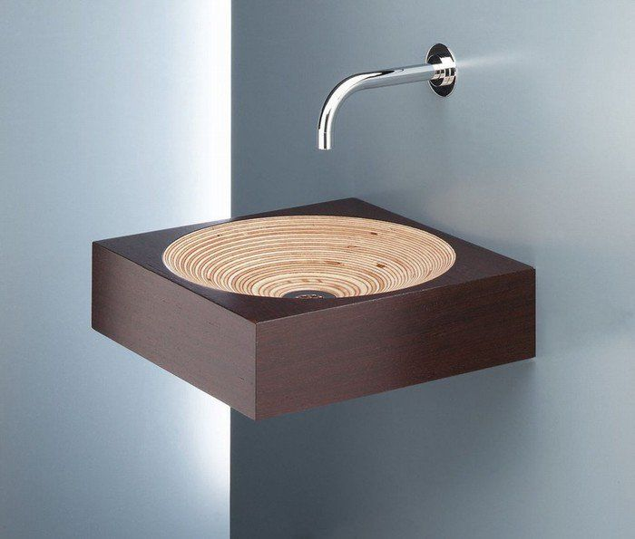 The original design of the sink in the bathroom, which will be a charming addition to the interior.