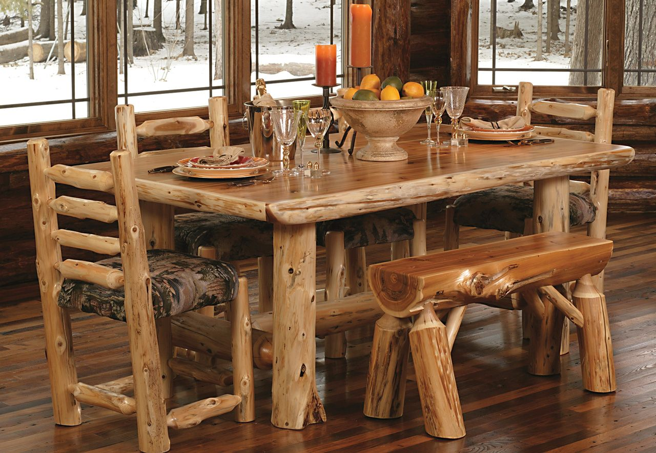 Wooden furniture for a country house