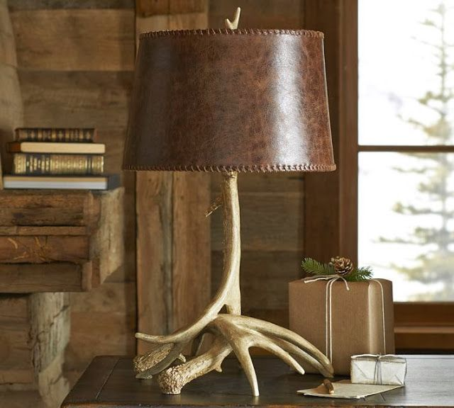 Leather bottle table lamp detail of the interior an accent