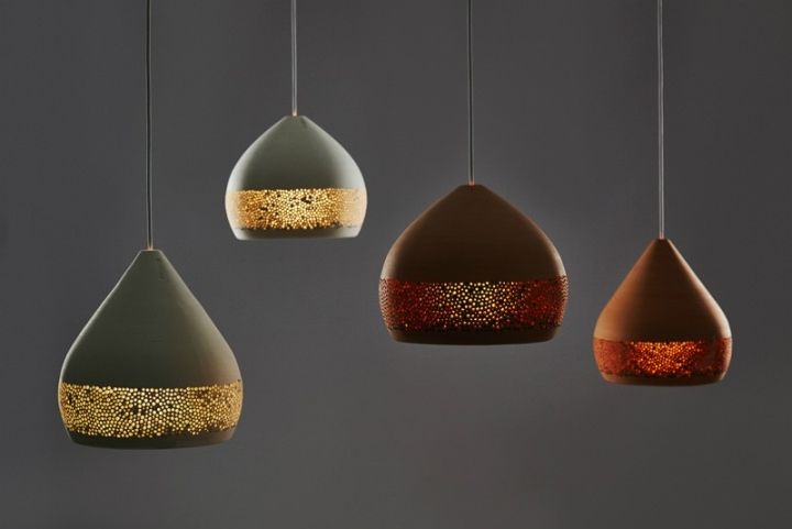 Universal design of colorful hanging lamps SpongeOh dome shape